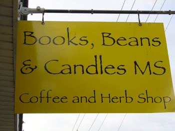 Bookstore sign