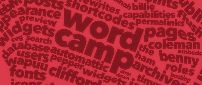 Calligrams and WordCamp