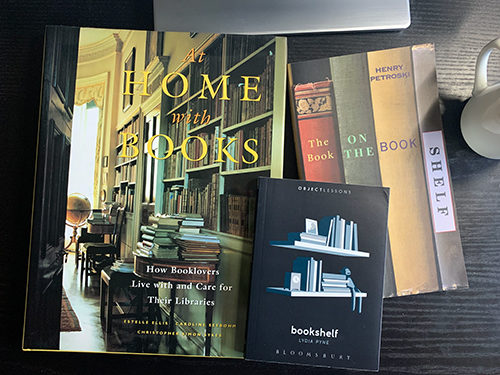 Three books all about bookshelves