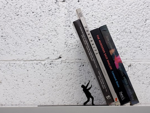 Falling Book Bookend