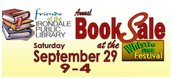Irondale Library Booksale Banner