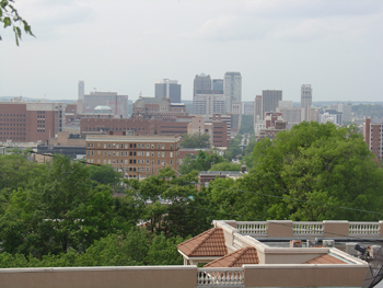 View of Birmingham from the back porch.