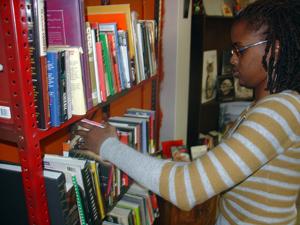 Malcolm's Reading Room shelving